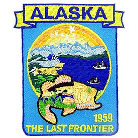 Alaska Decorative State Patch