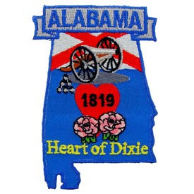 Alabama Decorative State Patch