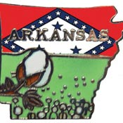Arkansas State Decorative Lapel Pin.