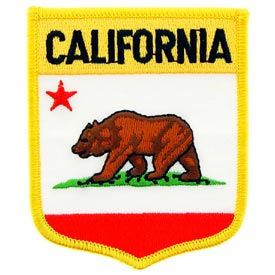 California Flag Patch. 2 7/8 W x 3 1/2 H.
