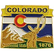 Colorado State Decorative Lapel Pin.