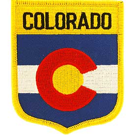 Colorado Flag Patch. 2 7/8 W x 3 1/2 H.