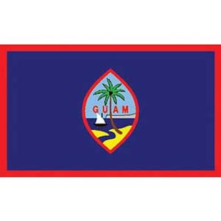 Guam Flag Decal. Sticker 3 1/4 x 5.