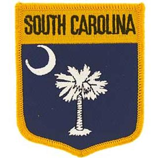 South Carolina Flag Patch. 2 7/8 W x 3 1/2 H.