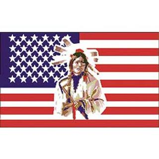 USA Indian 3x5' Polyester Flag