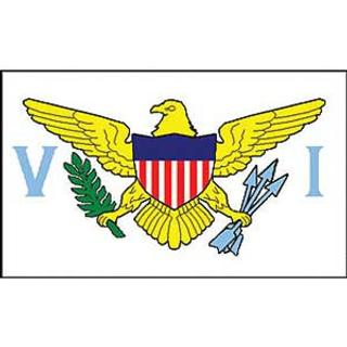 Virgin Islands Flag Decal. Sticker 3 1/4 x 5.