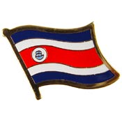 Costa Rica Lapel Pin.