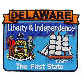 Delaware Decorative State Patch