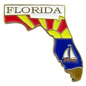 Florida State Decorative Lapel Pin.