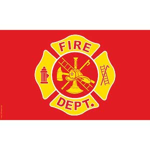 Fire Department 3x5' Polyester Flag
