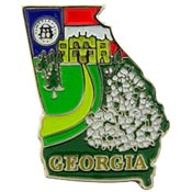 Georgia State Decorative Lapel Pin.