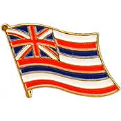 Hawaii State Flag Lapel Pin.