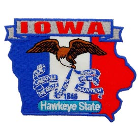 Iowa Decorative State Patch