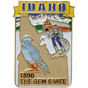 Idaho State Decorative Lapel Pin.