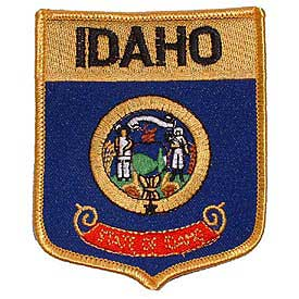 Idaho Flag Patch. 2 7/8 W x 3 1/2 H.