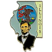 Illinois State Decorative Lapel Pin.