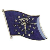 Indiana State Flag Lapel Pin.