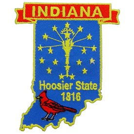 Indiana Decorative State Patch
