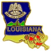 Louisiana State Decorative Lapel Pin.