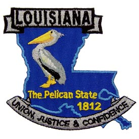 Louisiana Decorative State Patch