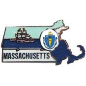 Massachusetts State Decorative Lapel Pin.