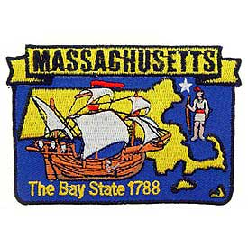 Massachusetts Decorative State Patch
