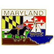 Maryland State Decorative Lapel Pin.