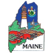 Maine State Decorative Lapel Pin.