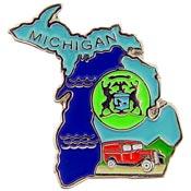 Michigan State Decorative Lapel Pin.