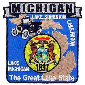 Michigan Decorative State Patch