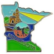 Minnesota State Decorative Lapel Pin.