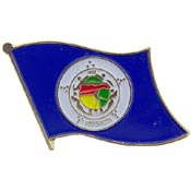 Minnesota State Flag Lapel Pin.