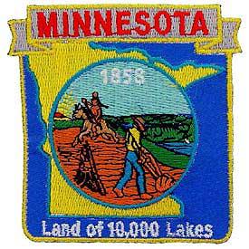 Minnesota Decorative State Patch