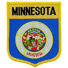 Minnesota Flag Patch. 2 7/8 W x 3 1/2 H.