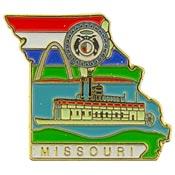 Missouri State Decorative Lapel Pin.