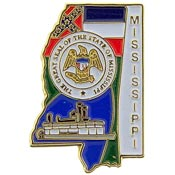 Mississippi State Decorative Lapel Pin.