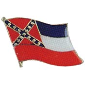 Mississippi State Flag Lapel Pin.