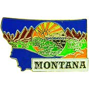 Montana State Decorative Lapel Pin.