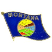 Montana State Flag Lapel Pin.