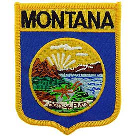 Montana Flag Patch. 2 7/8 W x 3 1/2 H.