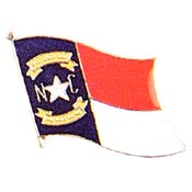 North Carolina State Flag Lapel Pin.