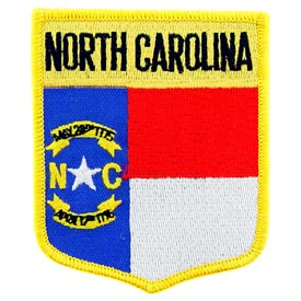 North Carolina Flag Patch. 2 7/8 W x 3 1/2 H.