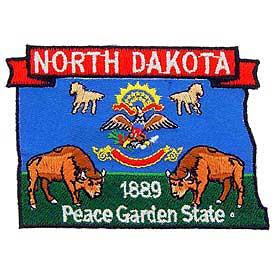 North Dakota Decorative State Patch