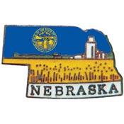 Nebraska State Decorative Lapel Pin.