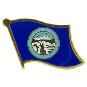 Nebraska State Flag Lapel Pin.
