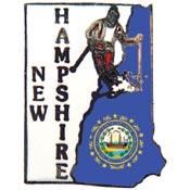 New Hampshire State Decorative Lapel Pin.