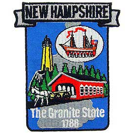 New Hampshire Decorative State Patch