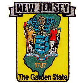 New Jersey Decorative State Patch