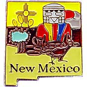 New Mexico State Decorative Lapel Pin.
