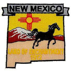 New Mexico Decorative State Patch